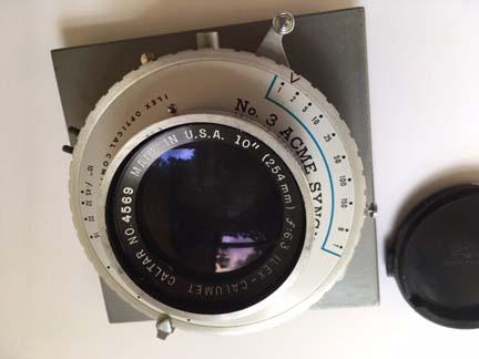 FS 10 inch (254mm) Ilex-Calumet f6 3 lens in No 3 Acme