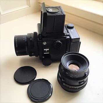 FS Mamiya RZ67 Professional with 65mm and 140mm lenses and
