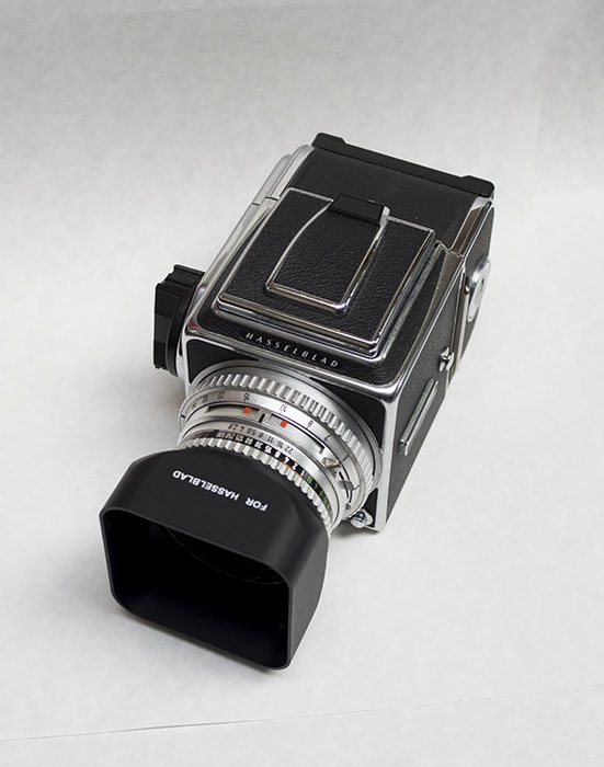 Hasselblad 500CM with A12 Back, 80C 2 8, tripod mount, strap $995 00